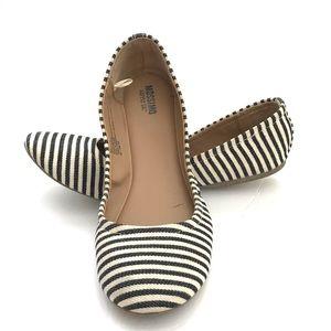 Black/Cream stripes Mossimo ballet flats